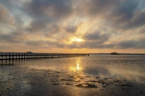 Photograph - Sunset - Dunedin - St Josephs Sound by Bill Cannon
