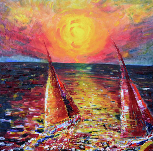 Painting - Sunset Dusk by Pete Caswell