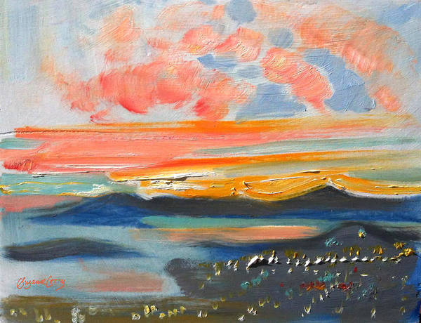 Painting - Sunset El Cerrito Ca by Suzanne Cerny