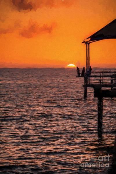 Photograph - Sunset Fishing          Ed by Ray Warren