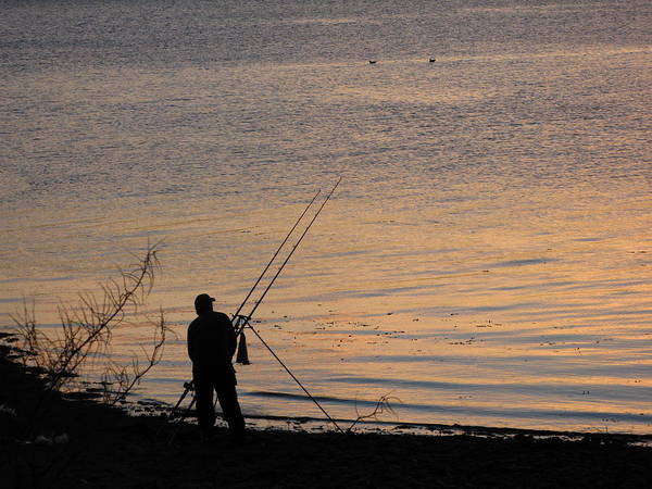 Photograph - Sunset Fishing On The Loch by Joseph Noonan