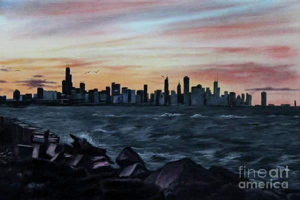 Wall Art - Painting - Sunset Flight by Jose Corona