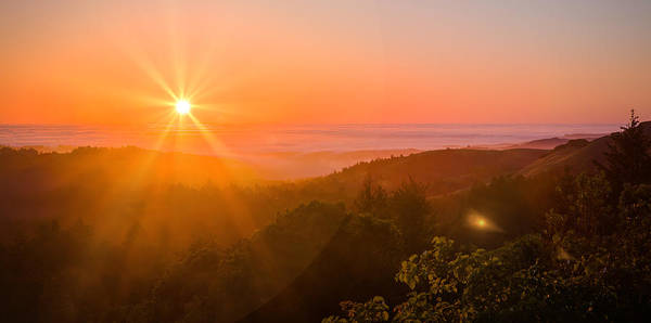 Photograph - Sunset Fog Over The Pacific #1 by Bryant Coffey