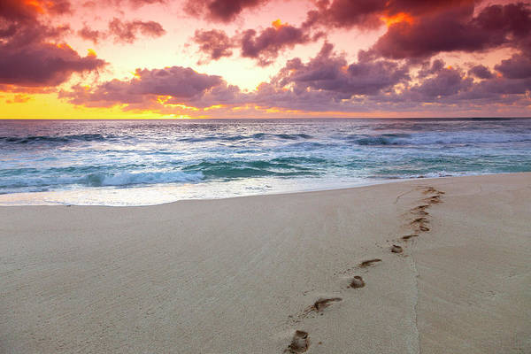 Wall Art - Photograph - Sunset Footprints by Sean Davey