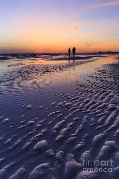 Photograph - Sunset Fort Myers Beach Florida by Edward Fielding