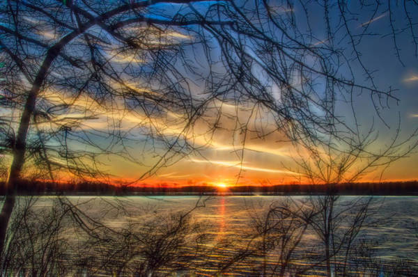 Photograph - Sunset Framed By Branches by Beth Sawickie