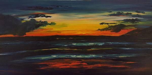 Painting - Sunset From Garden Estates Kihei Maui    100 by Cheryl Nancy Ann Gordon