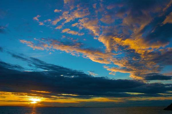 Photograph - Sunset From Isle Au Haut by Polly Castor