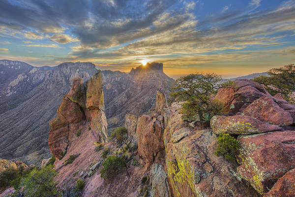 Chisos Mountains Photograph - Sunset From Lost Mine Peak In Big Bend National Park 2 by Rob Greebon