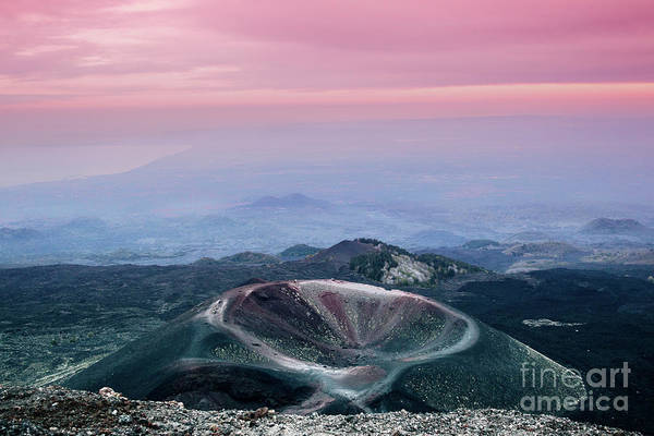 Sunset From The Top Of The Etna Art Print