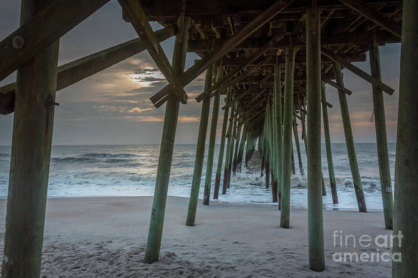 Photograph - Sunset From Under A Fishing Dock by PorqueNo Studios