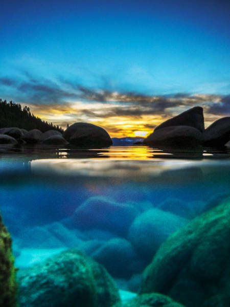 Herron Photograph - Sunset From Within Lake Tahoe by Mike  Herron