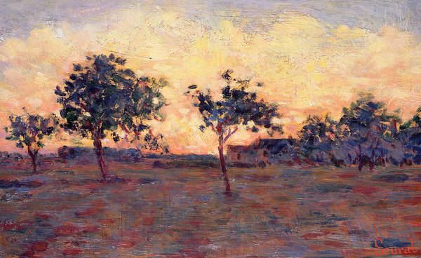 Daylight Painting - Sunset by Georges Pierre Seurat