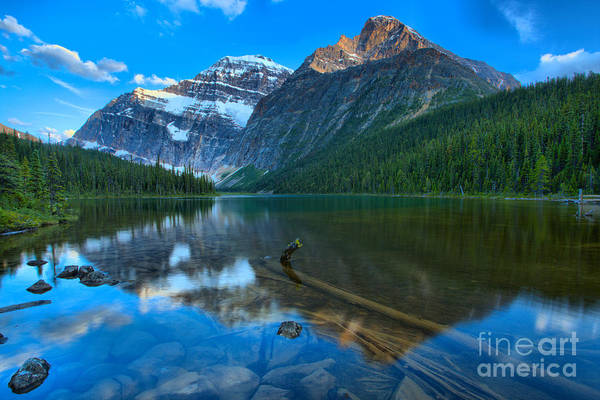 Photograph - Sunset Glow At Mt. Edith Cavell by Adam Jewell