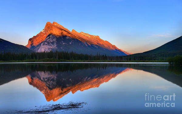 Photograph - Sunset Glow At Mt. Rundle by Adam Jewell