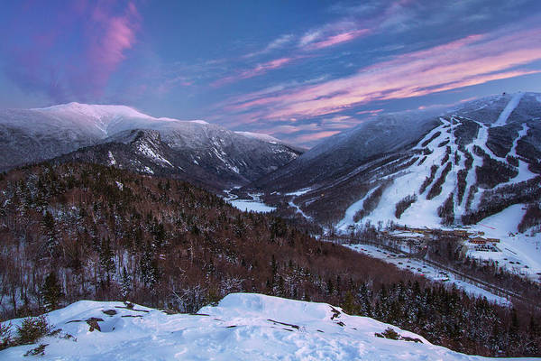 Bald Mountain Photograph - Sunset Glow Over Cannon Mountain by Chris Whiton