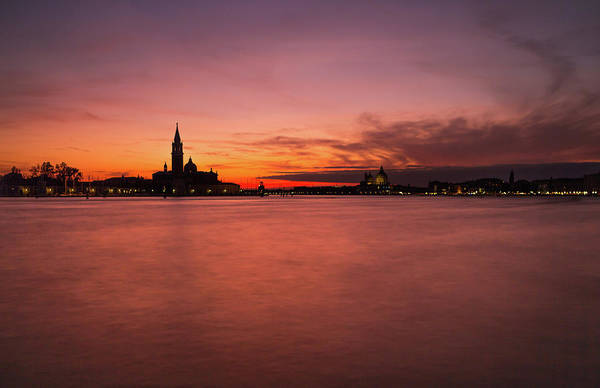 Sunset Over The Grand Canal, Venice. Art Print