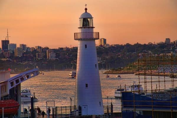 Photograph - Sunset Hues Cockle Bay Wharf by Diana Mary Sharpton