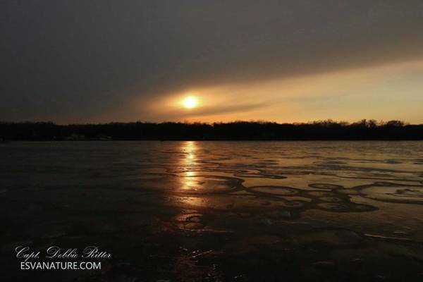 Photograph - Sunset Ice 8163 by Captain Debbie Ritter