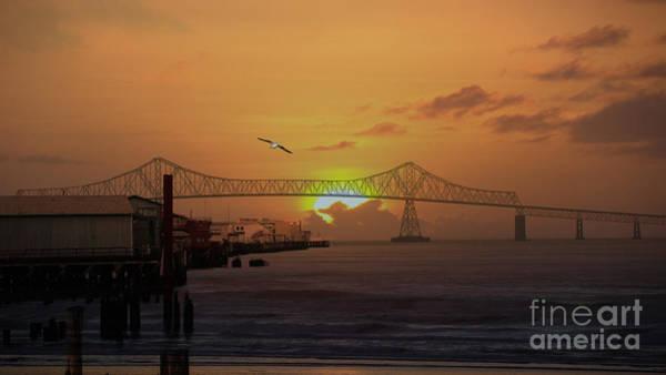 Astoria Bridge Photograph - Sunset In Astoria Oregon by Beverly Guilliams