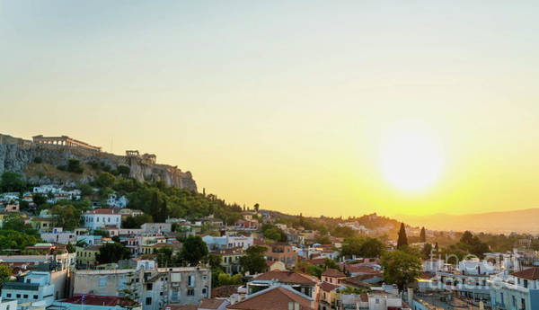Wall Art - Photograph - Sunset In Athens by DAC Photo