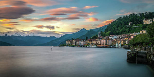 Photograph - Sunset In Bellagio On Lake Como by James Udall