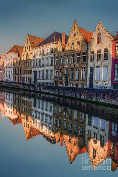 Photograph - Sunset In Bruges by Peter Kennett