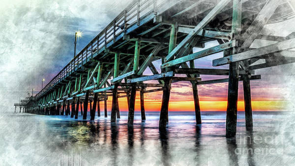Digital Art - Sunset In Cherry Grove by David Smith