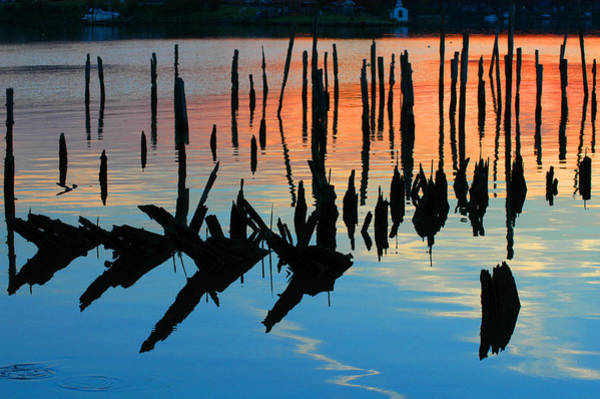 Sunset In Colonial Beach Virginia Art Print