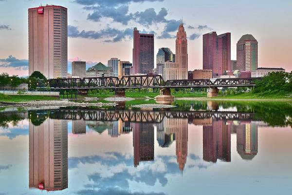Wall Art - Photograph - Sunset In Columbus by Frozen in Time Fine Art Photography