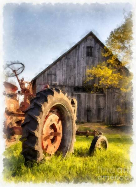 New England Barn Photograph - Sunset In Etna New Hampshire by Edward Fielding