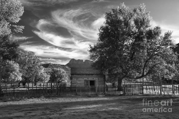 Bronstein Photograph - Sunset In Grafton Ghost Town by Sandra Bronstein