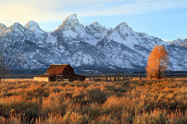 Photograph - Sunset In Grand Teton National Park by Pierre Leclerc Photography