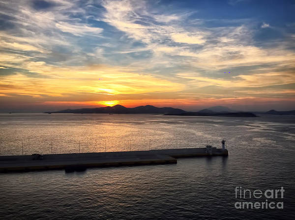 Wall Art - Photograph - Sunset In Greece by HD Connelly