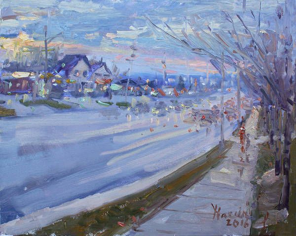 St Painting - Sunset In Guelph St Georgetown On by Ylli Haruni