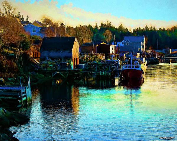 Halifax Nova Scotia Digital Art - Sunset In Herring Cove by Ken Morris