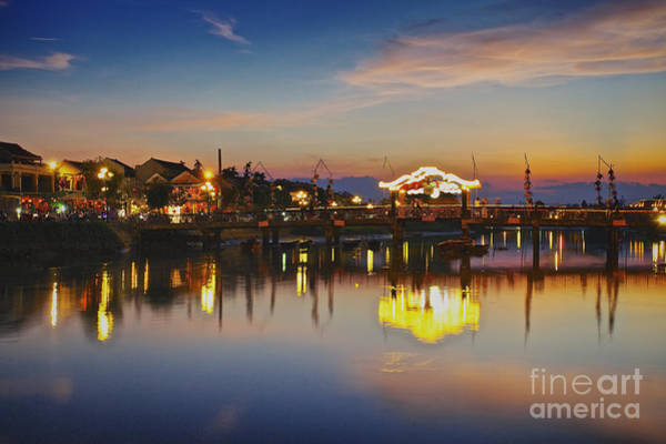 Sunset In Hoi An Vietnam Southeast Asia Art Print