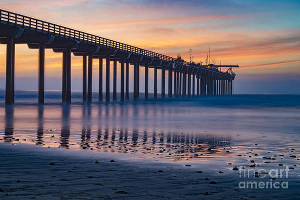 Under The Pier Photograph - Sunset In La Jolla by Art K