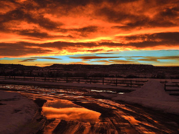 Wall Art - Photograph - Sunset In Mud by Dawn Key