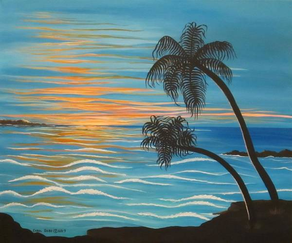 Wall Art - Painting - Sunset In Paradise by Carol Sabo