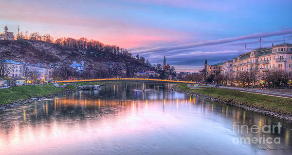 Photograph - Sunset In Saltzburg by Peter Kennett