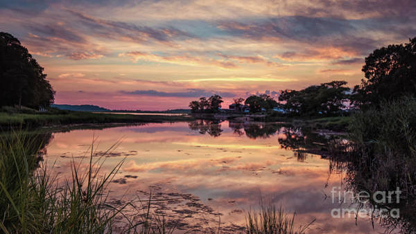 Photograph - Sunset In Stony Brook, New York by Alissa Beth Photography