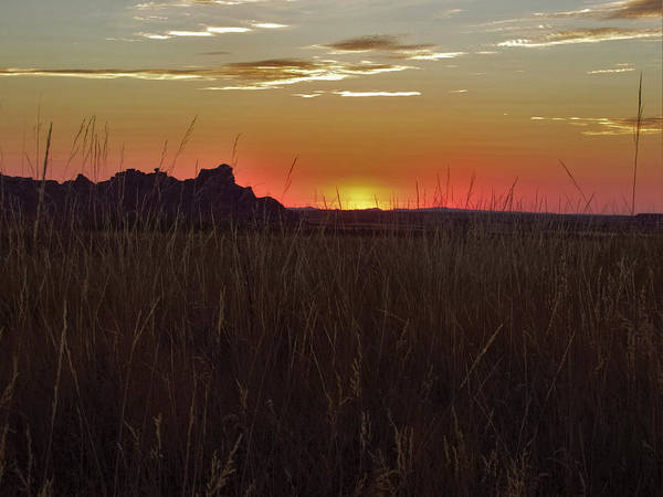 Photograph - Sunset In The Badlands by Teri Ridlon