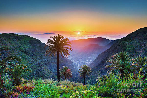 La Gomera Wall Art - Photograph - Sunset In The Canary Islands by JR Photography