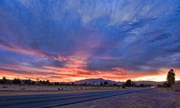 Chs Digital Art - Sunset In The Desert by Ches Black