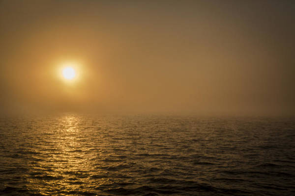 Photograph - Sunset In The Fog Bank by Jack R Perry