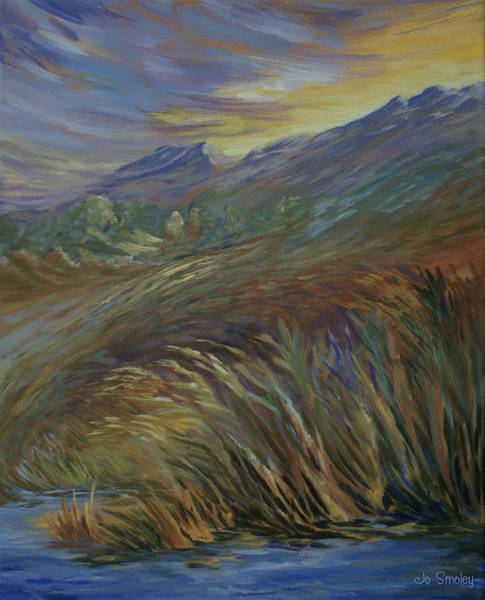 Painting - Sunset In The Mountains by Joanne Smoley