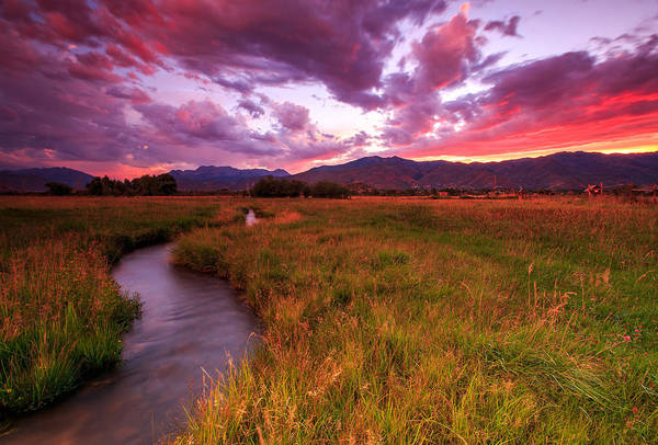Photograph - Sunset In The North Fields. by Johnny Adolphson
