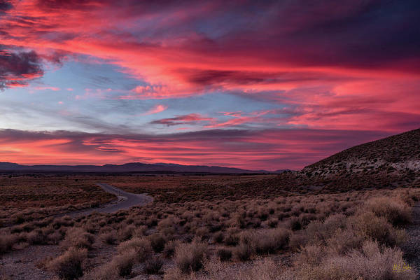Photograph - Sunset In The Owens River Valley by Stuart Gordon