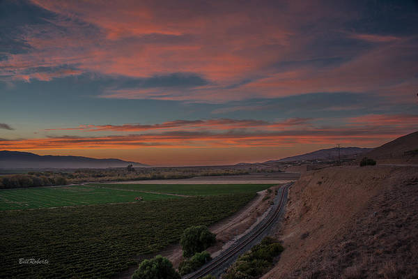 East County Photograph - Sunset In The Salinas Valley by Bill Roberts